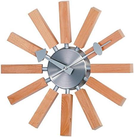 Stilnovo George Nelson Wood Spokes 13.5 in. Wall Clock