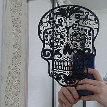 Etiqueta De La Pared Del Cráneo Skull Punk Rock Personalidad ...