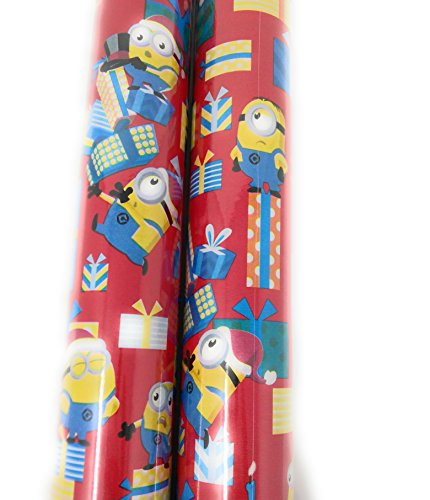 Christmas Wrapping Holiday Paper Gift Greetings 1 Roll Design Festive Minion Gift Red