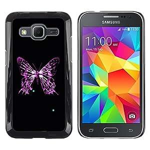 TopCaseStore / la caja del caucho duro de la cubierta de protección de la piel - Butterfly Skeleton - Samsung Galaxy Core Prime SM-G360