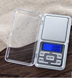 JTHKX Kitchen Scales Mini Electronic Digital Jewelry Scale Balance Pocket Gram Lcd Display Food Diet Postal Kitchen Small Scale,200G