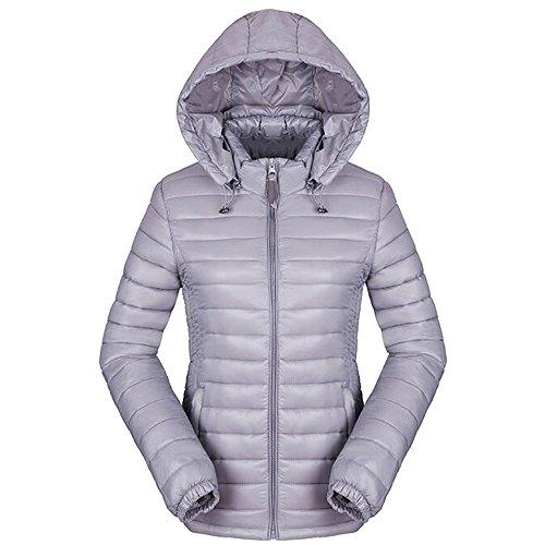 Inverno Ultra Chiaro Bozevon Puffer Giù Grigio Femminile Cappotto Cotone OdRdUx0q