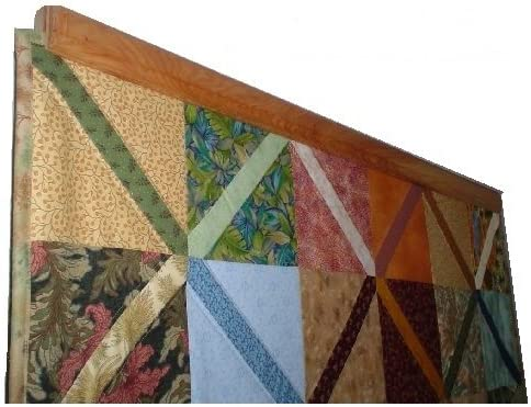 12-36 Inch Compression Type Quilt Rack Tapestry Rug Hanger 12 Oak