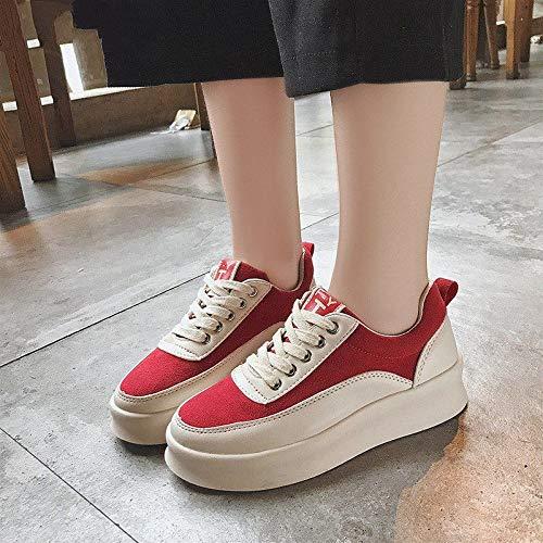 Sneakers Smorzate Stringate Basse Ysfu Sportive All'esterno A Autunno E Scarpe Donna Casual Primavera Sneaker Da Bianca Traspiranti Piattaforma Scarpette Leggere 5qpwF4aq