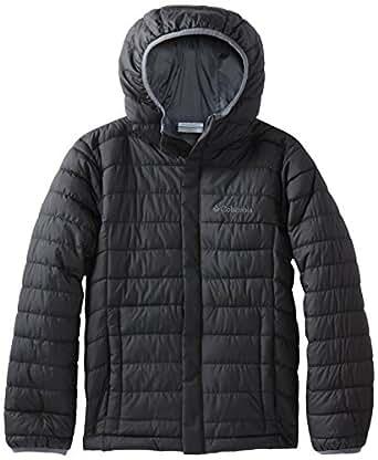 Columbia Big Boys' Powder Lite Puffer Jacket, Black, Small