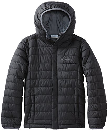 Columbia Little Boys' Powder Lite Puffer Jacket, Black, X-Small