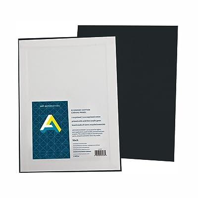 Aa Super Value Canvas Panel Black 11X14 Pk/4