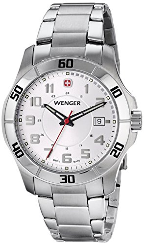 Alpine Date Wenger Swiss Watch (Wenger Men's 70489 Alpine White-Dial Stainless Steel Bracelet)