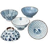 Saikai Pottery Traiditional Japanese Rice Bowls (5 bowls set) 31623 from Japan by Saikai Touki