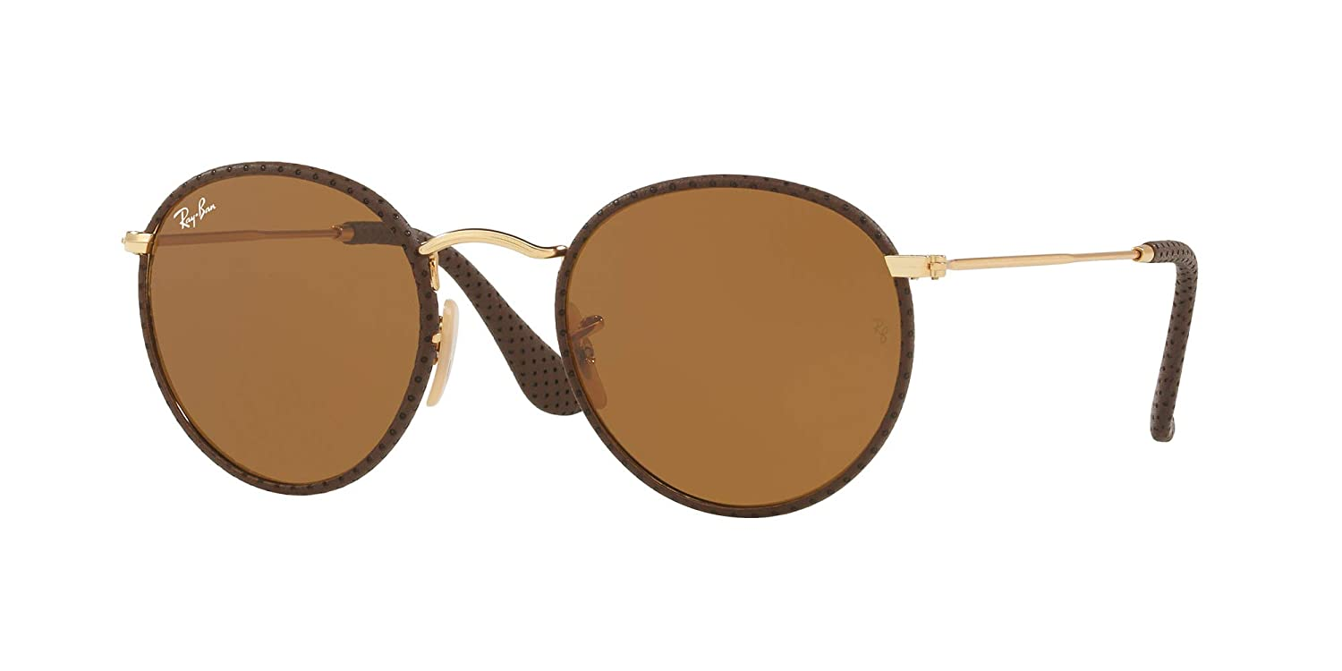 b53eae5ce8e551 Lunettes de Soleil Ray-Ban RB 3475Q Rose Gold Brown Leather Brown Unisexe   Amazon.fr  Montres
