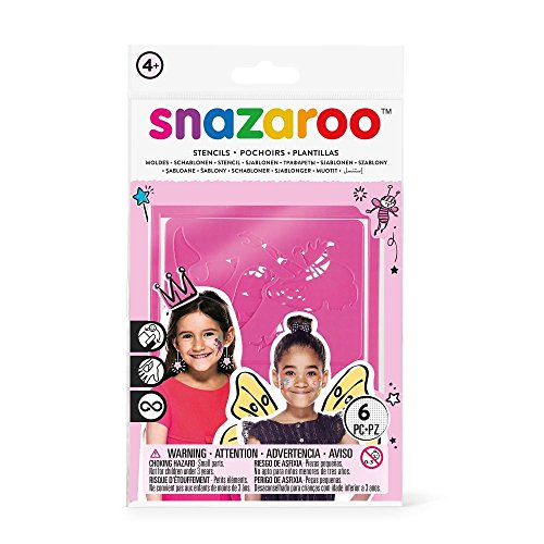 Snazaroo Face Paint Stencils - Girls Fantasy, Set of 6 -
