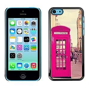 "For Apple iPhone 5C Case , Phone Booth Uk Reino Unido Big Ben"" - Diseño Patrón Teléfono Caso Cubierta Case Bumper Duro Protección Case Cover Funda"