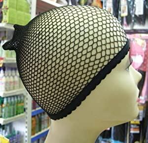 Fish Net Weaving Cap Black Suitable for all hair lengths by Magic