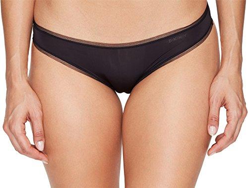 DKNY Women's Litewear Low Rise Bikini, Black, Medium