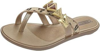866e63c94 Grendha Glamour Thong Womens Flip Flops Sandals - Gold Leopard
