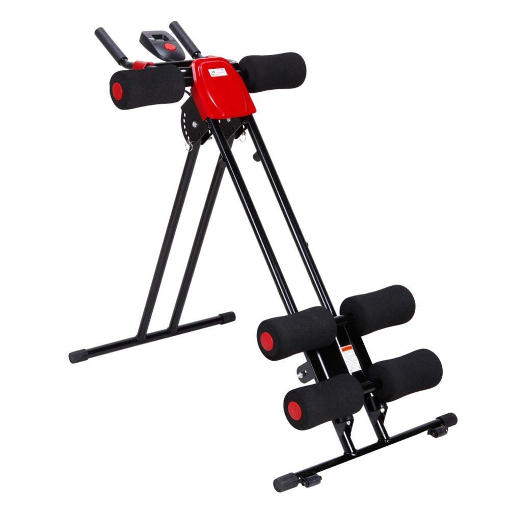 Rainrain27 Straight Linear Type Powerful Private Fitness Club Abdomen Exerciser Vertical Abdominal Machine Beauty Waist Machine for Office Home Black and Red by Rainrain27 (Image #1)
