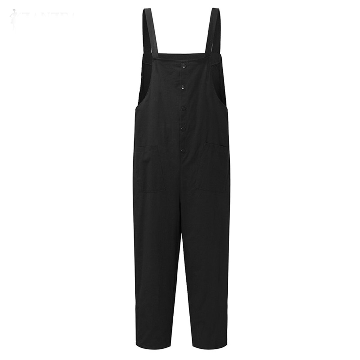 36aa0e787e8 Amazon.com  Celmia Women s Strappy Jumpsuits Overalls Casual Harem Pants  Wide Leg Low Crotch Loose Trousers  Clothing