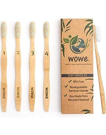 Wowe Natural Organic Bamboo Toothbrush Eco-Friendly Wood, Ergonomic, Soft BPA Free Bristles