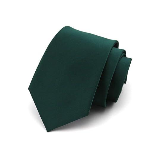 BAIJJ 8cm Verde Oscuro 100% Seda, diseño clásico, Hombres, Corbata ...