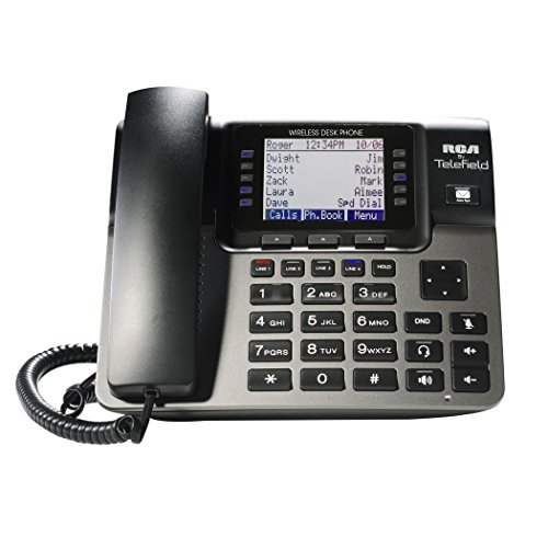 RCA Unison Accessory Desk Station Wireless 4-Line Landline Telephone, Not for Independent Use, Requires Unison U1000 Base Station (U1100) (Rca Clothing)