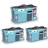 Go Beyond(TM) Handbag Insert-Organizer Tote (Bundle of 3 Blue)
