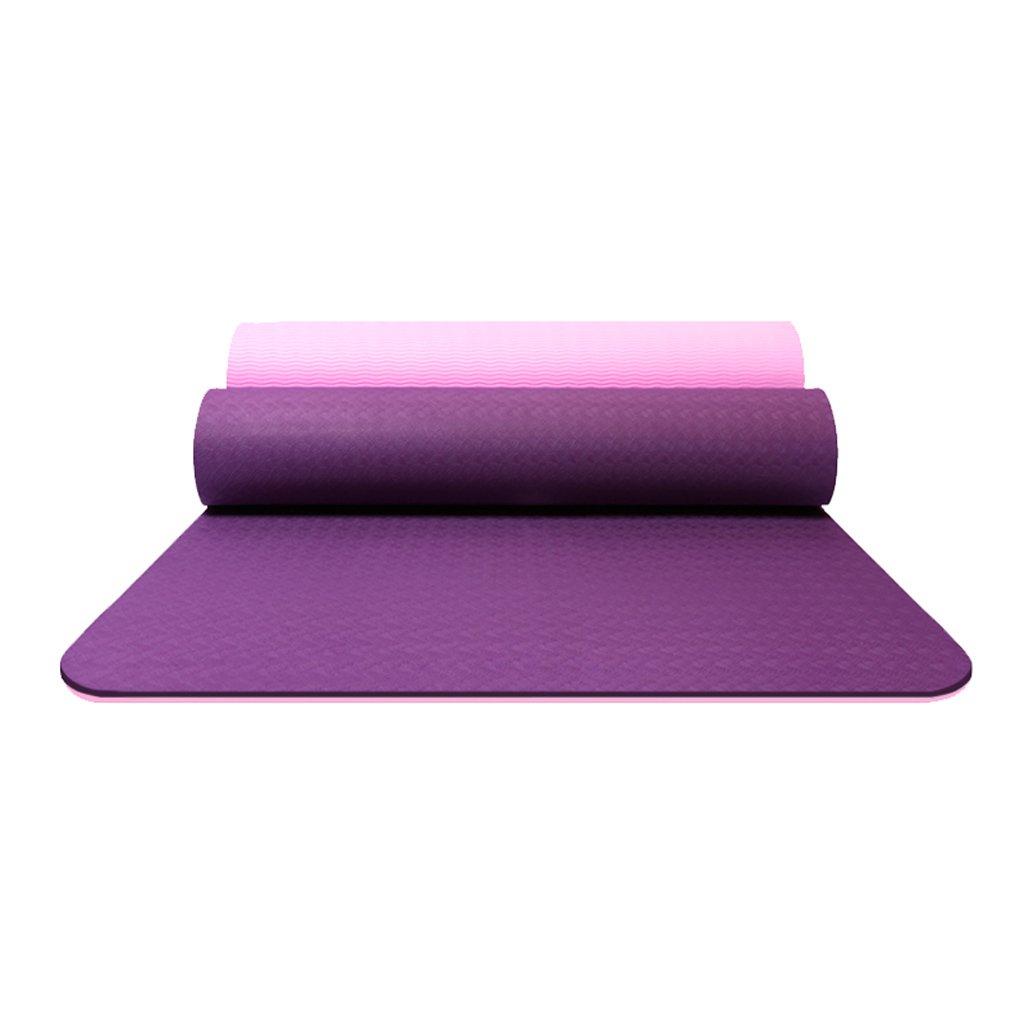 AILI Zwei-Farben-Yoga-Matte Anti-Rutsch-Pilates Verlängert Fitness-Yoga-Matten Können Leichte 6mm Tragen