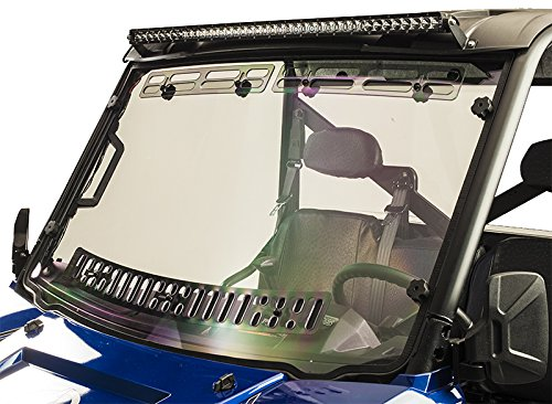 (Polaris Ranger XP 900/1000 2013-17 Ranger 900/1000 Crew 2014-17 and Ranger 570Crew 2016-17 Full-Size(Pro-fit cage) Multi-Vent Windshield with Hard coat)