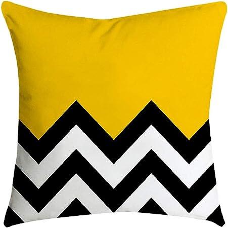Jaune Taie D/'oreiller Canapé Voiture taille Throw Cushion Cover Home Decor 45X45cm