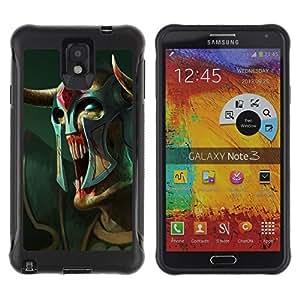"Pulsar iFace Series Tpu silicona Carcasa Funda Case para SAMSUNG Galaxy Note 3 III / N9000 / N9005 , Monstruo extranjero Mask Warrior Arte Blue Eyes"""