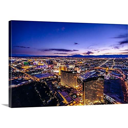 copterpilot写真ギャラリー‐ Aerial View Of The Las Vegas Strip at night 48` x 32` 2427746_1_48x32_noneの商品画像