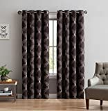 Embroidered Blackout Curtains Chocolate/Linen