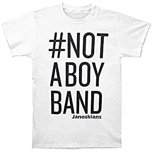 Janoskians Men's Not A Boy Band Slim Fit T-shirt White