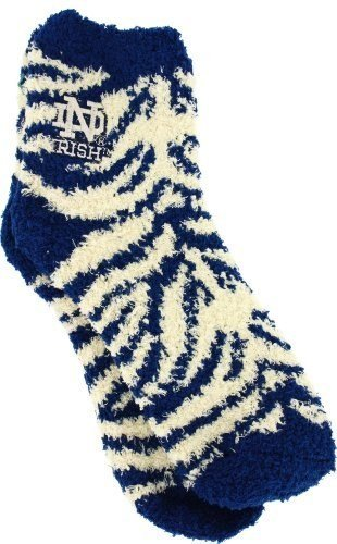 Notre Dame Fighting Irish Zebra Stripe Women's Fuzzy Sleep