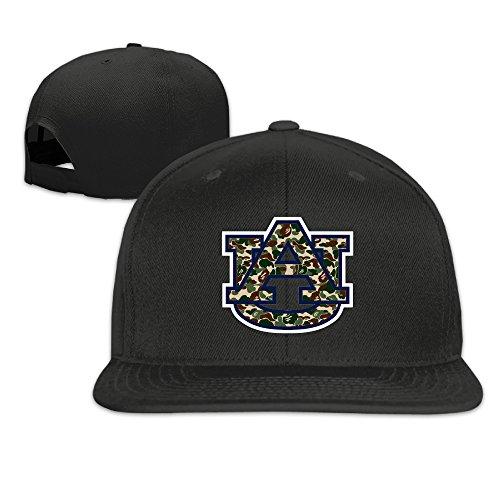 CYANY Auburn Tigers University Camouflaged Logo Flat Bill Snapback Adjustable Hip Hop Hat Black