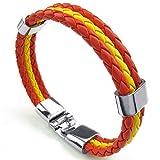 AnaZoz Yellow Red Mens Womens Cuff Bangle Bracelet 9 IN