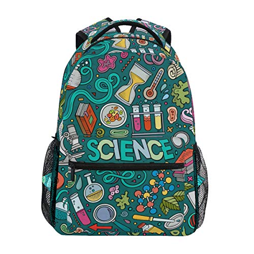 Educational Science Items Backpacks Travel Laptop Daypack School Bags for Teens Men Women