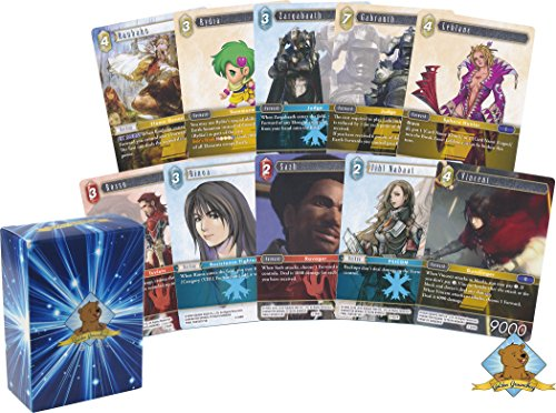 100 Random Final Fantasy Trading Card Game Lot! Includes Golden Groundhog Deck Box!
