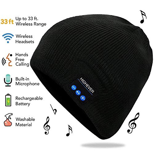 Bluetooth Beanie, Bluetooth Hat, Mens Beanie Hats with Bluetooth 5.0 Headphones,Built-in Microphone for Hands-Free Call,Music, Women Mens Gifts. Electronic Gifts for Men, Fashion Gifts for Women