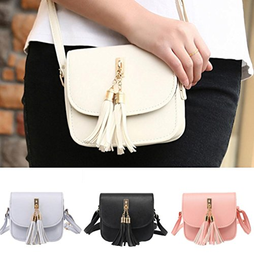 Messenger Beige Candy Women Bag Stylish Bag Shoulder Fashion Handbag New Women's Chains Tassel Small Bags qzgPw