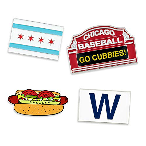 PinMart Chicago Baseball Enamel Pin Set