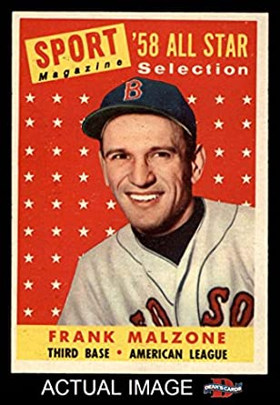 Amazoncom 1958 Topps 481 All Star Frank Malzone Boston Red Sox