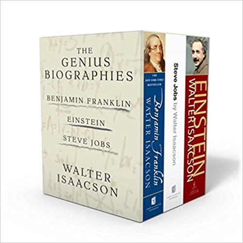 image for Walter Isaacson: The Genius Biographies: Benjamin Franklin, Einstein, and Steve Jobs