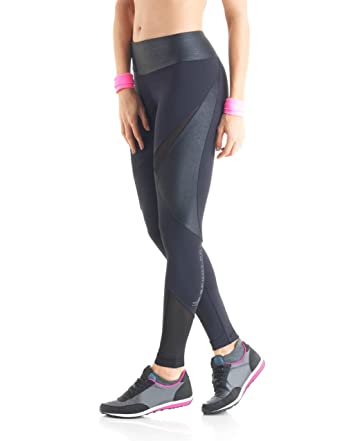 aa63eee3a Amazon.com  Lupo Women s Leather Long Compression Pants  Clothing