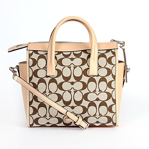 Coach Khaki Riley 30168 Bleecker Madeira Light Carryall Mini Signature vch rPfqwyOr