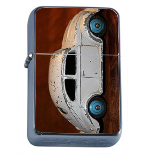 VOLKSWAGEN BEETLE BUG RETRO TOY CAR Windproof Refillable Flip Top Oil Lighter with Tin Gift Box D-256