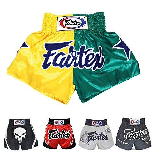 Fairtex Muay Thai Boxing Shorts (Patriot Yellow/Green BS114,S)