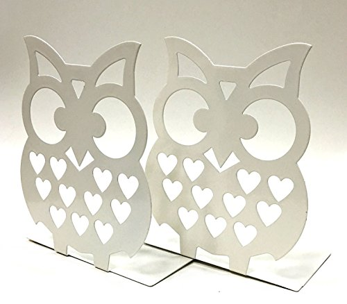 7 inches tall owls metal bookends big cute lightweight baby owls great decor for little ones nursery childrens bedroom kids playroom or fun and - Owl Decor