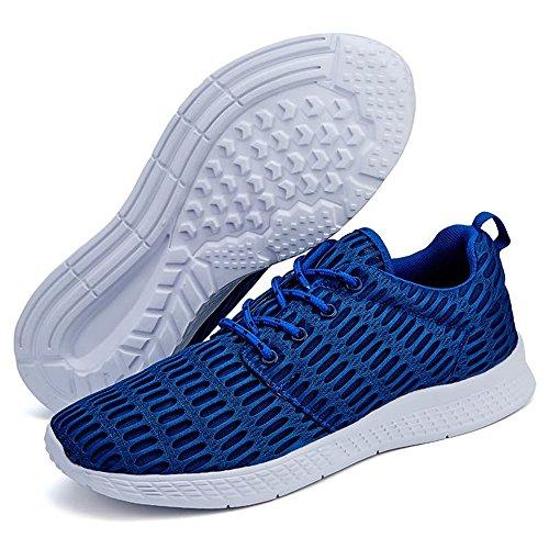 Punta de Zapatos Hombres de Azul de atléticos sólido Deportivas Color Zapatillas la de Redonda Moda los wn7qaxOwS