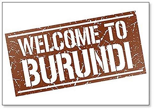 Welcome to Burundi Stamp Illustration Fridge Magnet