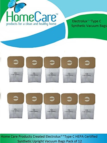 Home Care Products Created ElectroluxType C HEPA Certified Synthetic Upright Vacuum Bags Pack of 9 by Home Care